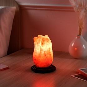 Соляная лампа 'Тюльпан малый', цельный кристалл, 15 см, 1,5 кг Ош