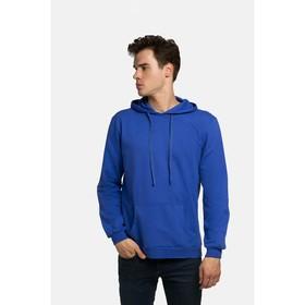 Худи мужское KAFTAN basic (М4), размер 4XL(56), цвет индиго, хлопок 100% Ош