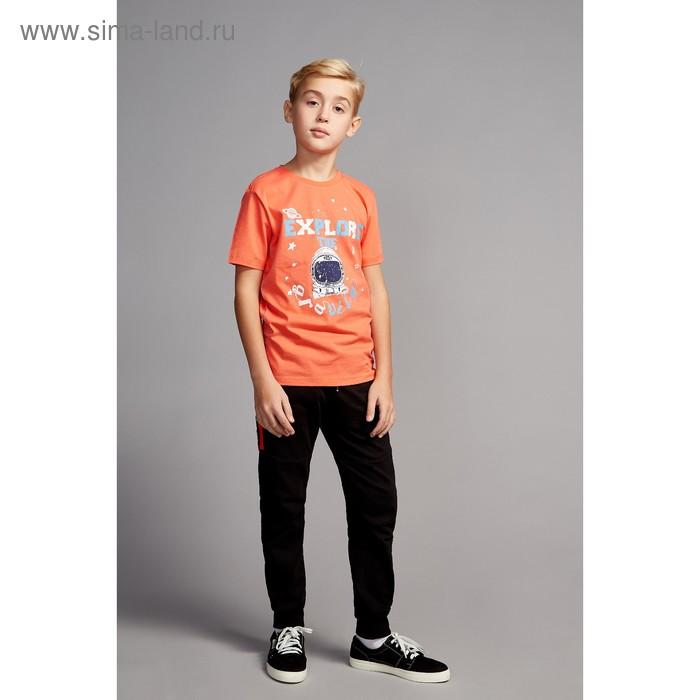 Футболка для мальчика, рост 128 см, цвет красный