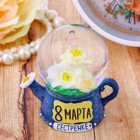 Снежный шар '8 Марта', d=4,5 см Ош