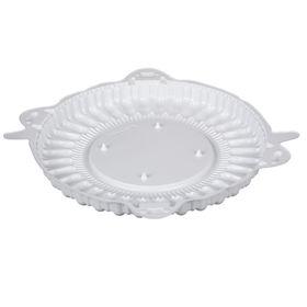 Контейнер для торта Т-225ДШ (М), круглый, цвет белый, размер 22,8 х 22,8 х 2 см