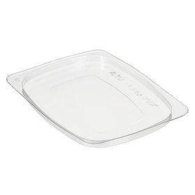 Крышка к контейнеру СПМ-250К, прямоугольная, цвет прозрачный, размер 10,7 х 8,1 х 0,6 см