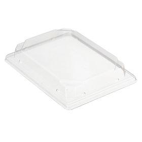 Крышка к контейнеру С-19К (Т), прямоугольная, цвет прозрачный, размер 18,8 х 13,3 х 2,94 см