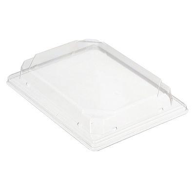 Крышка к контейнеру С-19К (Т), прямоугольная, цвет прозрачный, размер 18,8 х 13,3 х 2,94 см - Фото 1