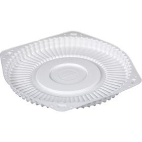 Контейнер для торта Т-245/1Д, круглый, цвет белый, размер 24 х 24 х 2 см