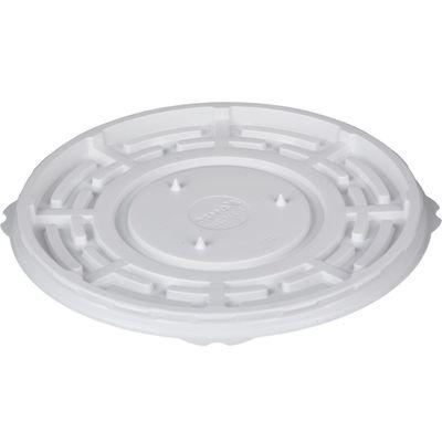 Контейнер для торта «Т-235/2ДШ Эконом», круглый, цвет белый, размер 23,3 х 23,3 х 0,8 см - Фото 1