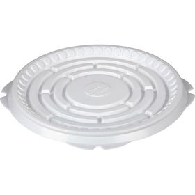 Контейнер для торта Т-230Д, круглый, цвет белый, размер 21,1 х 21,1 х 0,8 см