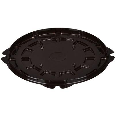 Контейнер для торта Т-218ДШ, круглый, цвет коричневый, размер 22,4 х 22,4 х 1,1 см - Фото 1