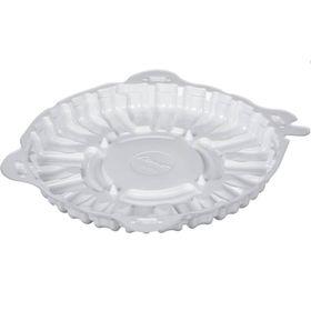 Контейнер для торта Т-207/1ДШ (М), круглый, цвет белый, размер 20,4 х 20,4 х 2 см