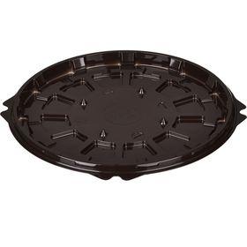 Контейнер для торта Т-192ДШ, круглый, цвет коричневый, размер 19,2 х 19,2 х 1,05 см