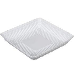 Контейнер для торта Т-160Д (Т), квадратный, цвет белый, размер 20,5 х 20,5 х 3,7 см
