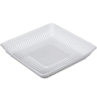 Контейнер для торта Т-160Д (Т), квадратный, цвет белый, размер 20,5 х 20,5 х 3,7 см - Фото 1