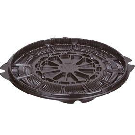 Контейнер для торта Т-022ДШ, круглый, цвет коричневый, размер 22,4 х 22,4 х 1,1 см