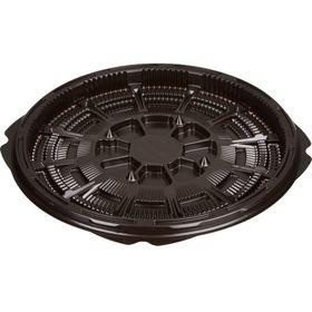 Контейнер для торта Т-018ДШ, круглый, цвет коричневый, размер 18 х 18 х 1,66 см