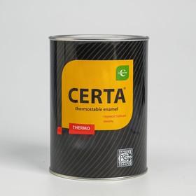Эмаль термостойкая «Церта», ж/б, до 750 °С, 0,8 кг, чёрная Ош