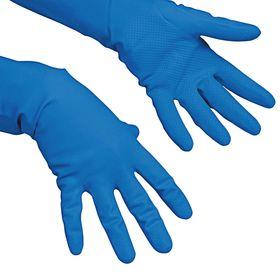 Перчатки Vileda для профессиональной уборки, многоцелевые, размер L, цвет голубой