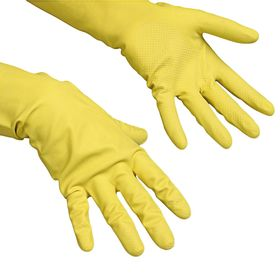 Перчатки Vileda Контракт для профессиональной уборки, размер S, цвет жёлтый
