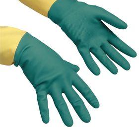 Перчатки Vileda для профессиональной уборки, усиленные L, цвет зелёный