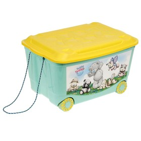 Ящик для игрушек на колёсах с аппликацией Me to you, зелёный