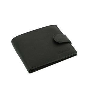 Портмоне S.Quire, натуральная воловья кожа, чёрный, 11,4x9,2 см