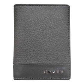 Обложка для кредитных карт, Cross Nueva FV, кожа наппа, фактурная, цвет серый