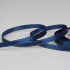 Лента атласная «Золотые нити», 6 мм ? 23 ± 1 м, цвет синий №038