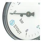 """Манометр STOUT SIM-0009-630608, аксиальный, DN63, G1/4"""" - Фото 4"""
