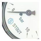 """Манометр STOUT SIM-0009-631008, аксиальный, DN63, G1/4"""" - Фото 4"""