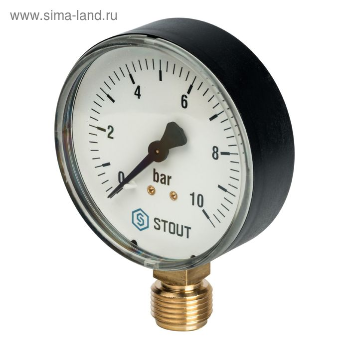 """Манометр STOUT SIM-0010-801015, радиальный, DN80, G1/2"""""""