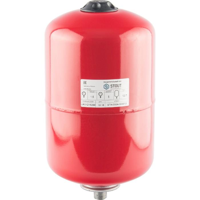 Расширительный бак STOUT, для систем отопления, 12 л