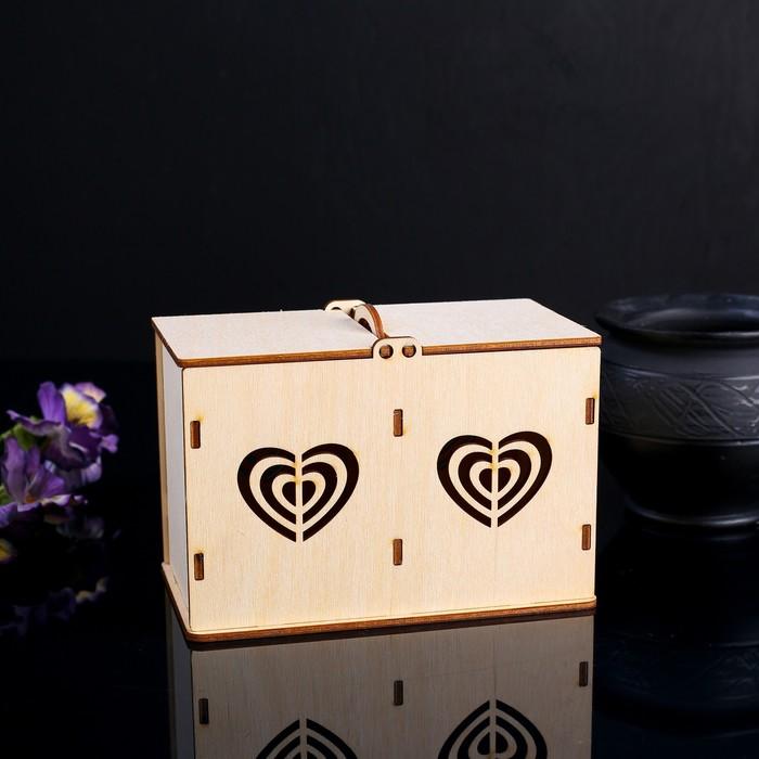 Коробочка для чая Сердца