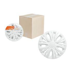 Колпаки колесные 14' 'Лион', белый, карбон, 2 шт Airline AWCC-14-03 Ош