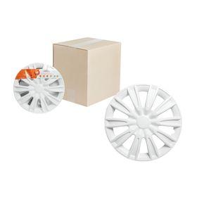 Колпаки колесные 14' 'Торнадо', белый, карбон, 2 шт Airline AWCC-14-08 Ош