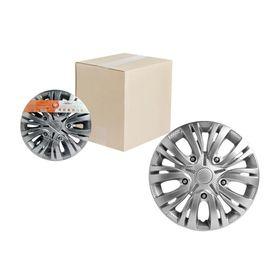 Колпаки колесные 15' 'Лион', серебристый, карбон, 2 шт Airline AWCC-15-01 Ош