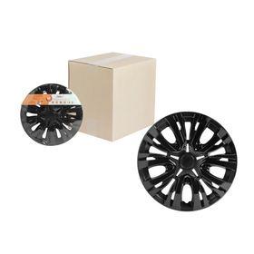 Колпаки колесные 15' 'Лион', черный глянец, карбон, 2 шт Airline AWCC-15-04 Ош