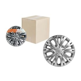 Колпаки колесные 14' 'Лион', серебристый, карбон, 2 шт Airline AWCC-14-01 Ош