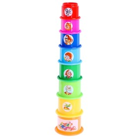 Развивающая игрушка «Занимательная пирамидка - 2», МИКС Ош