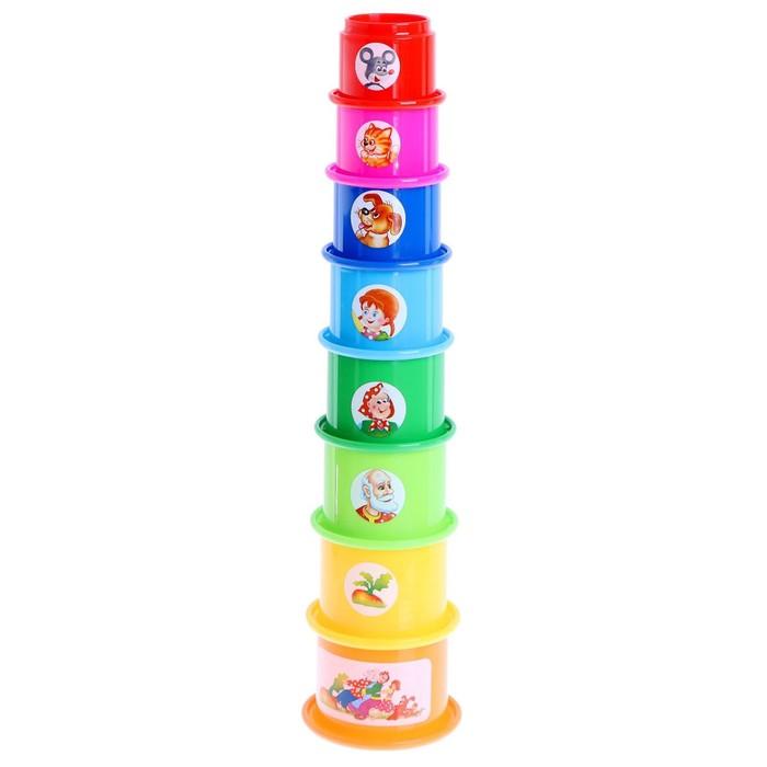 Развивающая игрушка Занимательная пирамидка - 2, МИКС