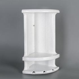 Полка угловая, 17×18×37 см, цвет белый Ош