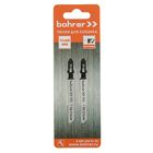 Пилки для лобзиков Bohrer, по стали, Т118B HSS 75/50мм, шаг 2 мм, 2 шт.