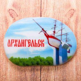 Магнит в форме большой гальки «Архангельск» Ош