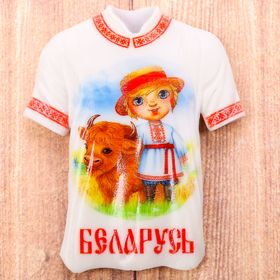 Магнит в форме футболки «Беларусь» Ош
