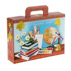 """Коробка для школьного набора """"Скоро в школу. Шотландка"""", 320х230х75мм"""