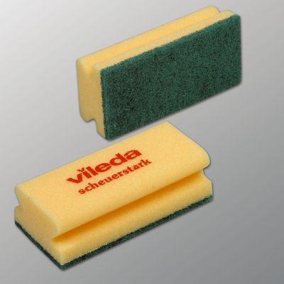 Губка для профессиональной уборки Vileda, зелёный абразив, 9,5 х 5,5 см - Фото 1