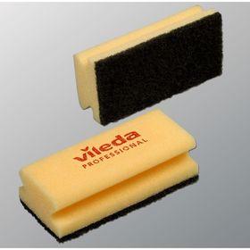 Губка для профессиональной уборки Vileda, чёрный абразив, 9,5 х 5,5 см