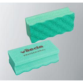 Губка для профессиональной уборки с системой Vileda ПурАктив, цвет зелёный, 6,3 х 14 см