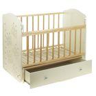 Детская кроватка «Морозко. Бабочки» с ростомером, на маятнике, с ящиком, цвет белый/берёза - Фото 2