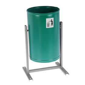 Урна для мусора «Уралочка-Бюджет», 21 л, цвет зелёная шагрень Ош