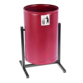 Урна для мусора «Уралочка», 21 л, цвет красный Ош