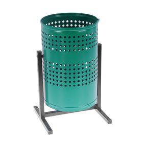Урна для мусора «Уралочка», 21 л, перфорированная, цвет зеленая шагрень Ош